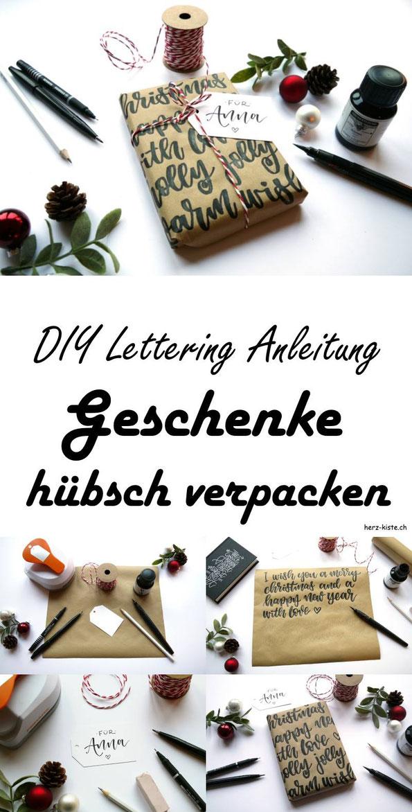 DIY Lettering: Eine Anleitung, wie du deine Geschenke mit Handlettering hübsch verpacken kannst. Lettering Idee für Geschenke. #Lettering #Handlettering #Geschenk #Geschenke #verpacken #hübsch #einpacken #DIY #DIYAnleitung #schenken