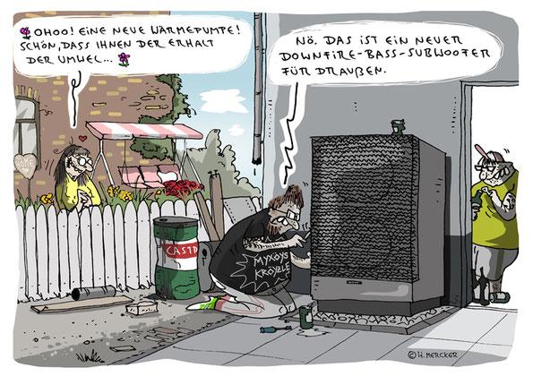 Cartoon von H. Mercker: Leuchten