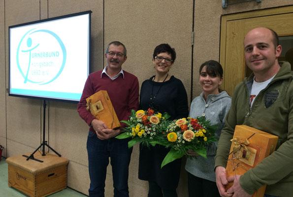 Ein Dankeschön für langjährige Mitarbeit gilt Klaus Pflüger, Christine Fränkle, Martina Jäschke, Andreas Schwender.