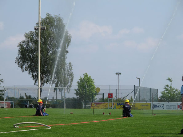 Feuerwehrwettkampf in Trebendorf