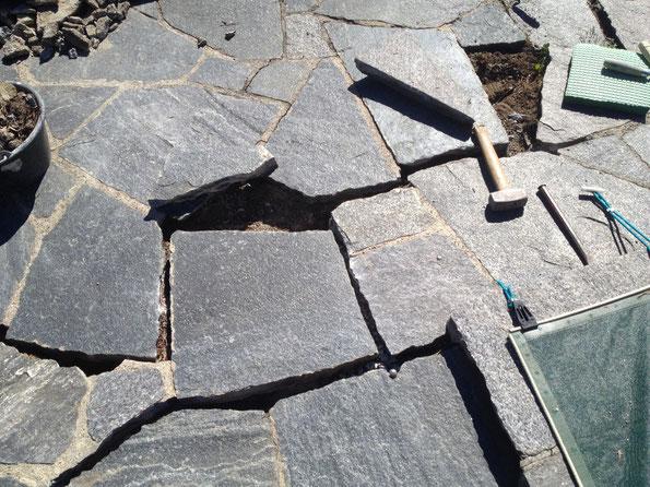 Riparazioni piazzali in pietra
