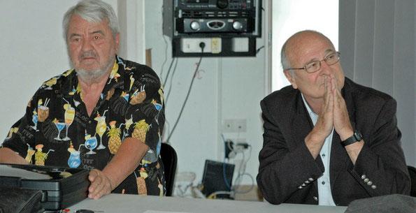 Georges Roux et Jean Bacci à Sillans le 21 mai 2016