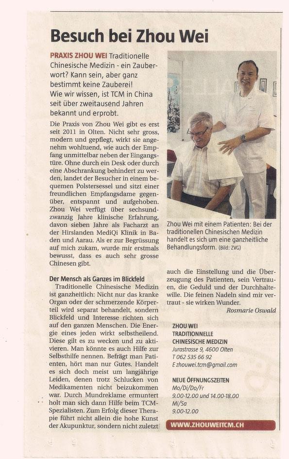 Stadtanzeiger Olten, 20,09,2012