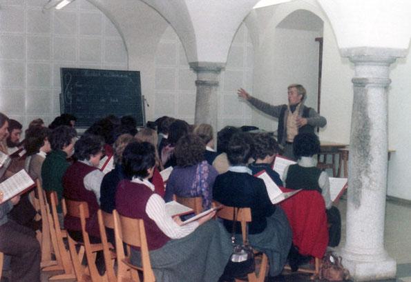 Die erste Chorprobe - am 9. April 1980