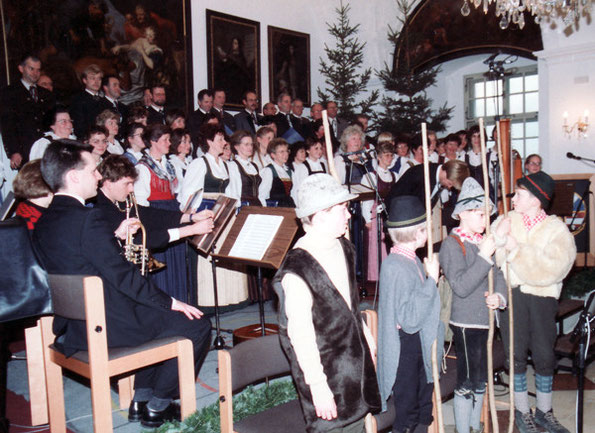 Uraufführung der Weihnachtskantate auf Schloss Weinberg (OÖ)