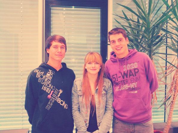 von Links: Christof Bisser, Wanda Heinrich, Nikola Protic