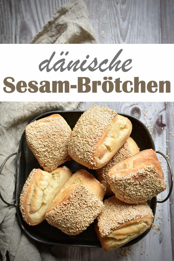 dänische Sesambrötchen, vereinfachte Version von klassischen Birkes, vegan möglich, Thermomix