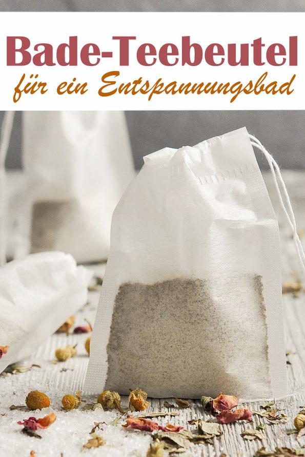 Selbst gemachte Bade-Teebeutel für ein Entspannungsbad, Geschenkidee zu Weihnachten oder Ostern, Thermomix