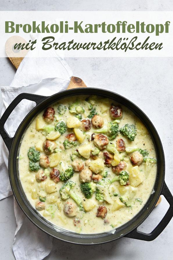 Brokkoli-Kartoffeltopf mit Bratwurstklößchen, vegetarisch, vegan machbar, Thermomix, Mittagessen, Familienküche