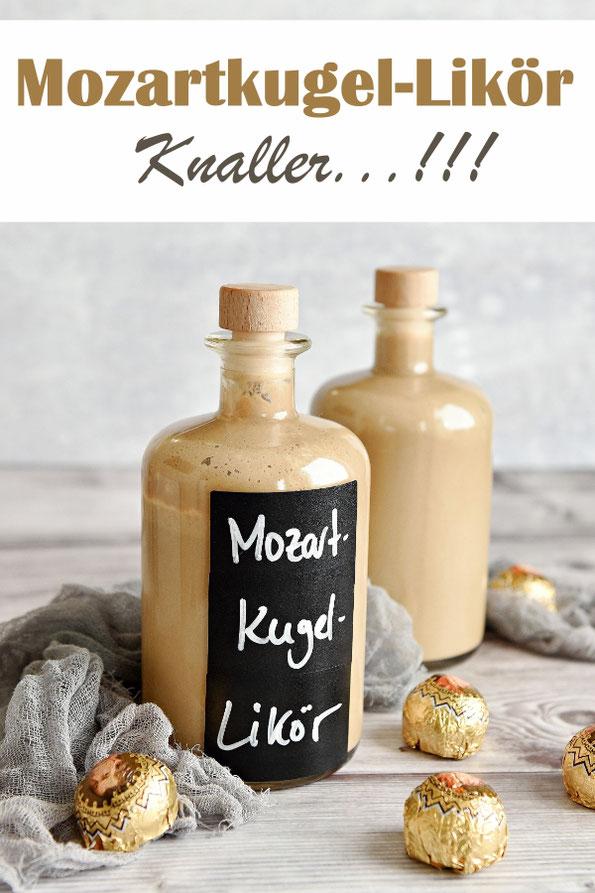 Mozartkugel Likör selbst gemacht, ein Hauch von Pistazie mit dem Geschmack von Nougat und Marzipan, Geschenk aus der Küche, Thermomix, Knaller, einfach lecker