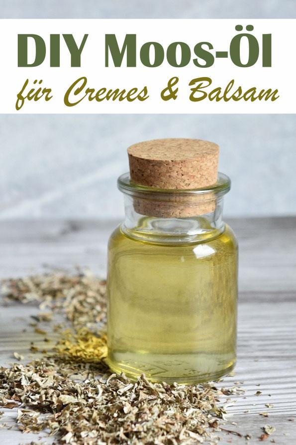 Moos Öl selbst gemacht, als Rohstoff zur Weiterverarbeitung in Cremes oder Balsams, Thermomix, DIY Kosmetik, vegan, Anti Aging Effekt