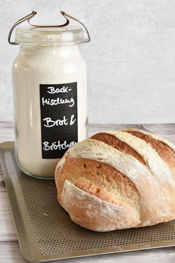 Selbst gemachte Brotbackmischung, kann man auch für Brötchen nehmen, auf Vorrat oder als Geschenk, Thermomix, vegan