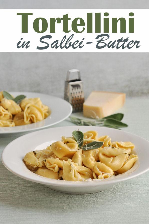Tortellini in Salbei Butter, Salbei-Butter im Thermomix gemacht, Tortellini auf dem Herd, vegetarisch