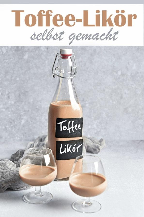 Toffee Likör selbst gemacht, aus Karamellbonbons, Schokoalde und Sahne, Thermomix, Geschenk aus der Küche, Weihnachtsgeschenk, Ostergeschenk, Thermomix