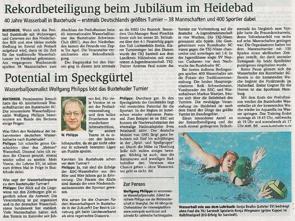 Buxtehuder Tageblatt vom 14.09.2011