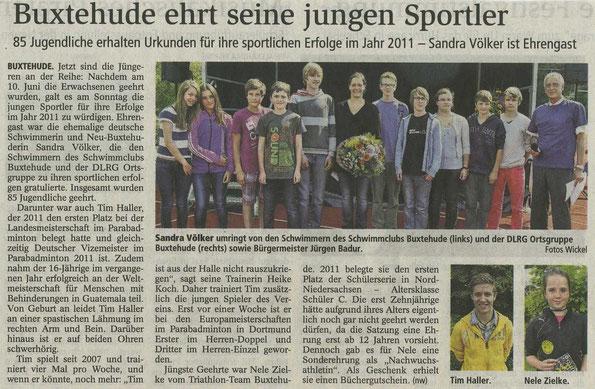 Buxtehuder Tageblatt vom 18.06.2012