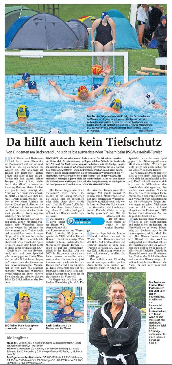 Buxtehuder Tageblatt vom 8. September 2015
