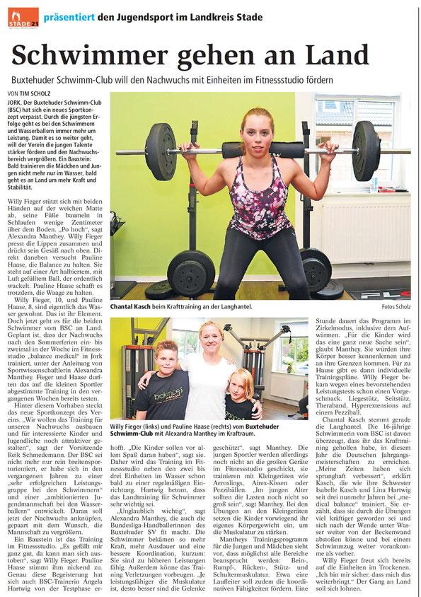 Buxtehuder Tageblatt vom 22. Juli 2015