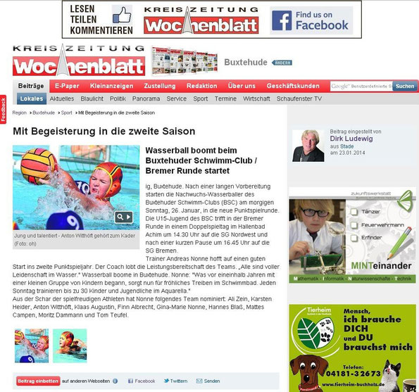 Buxtehuder Wochenblatt vom 23.01.2014 - Onlineausgabe