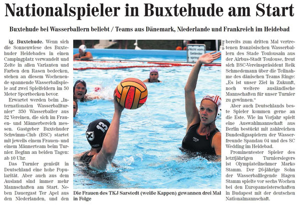 Wasserball: Nationalspieler in Buxtehude am Start