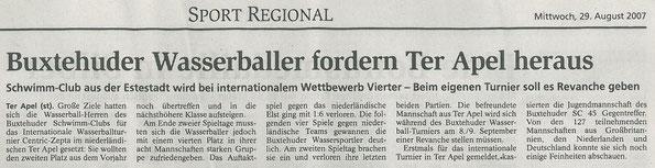 Buxtehuder Tageblatt vom 29.08.2007