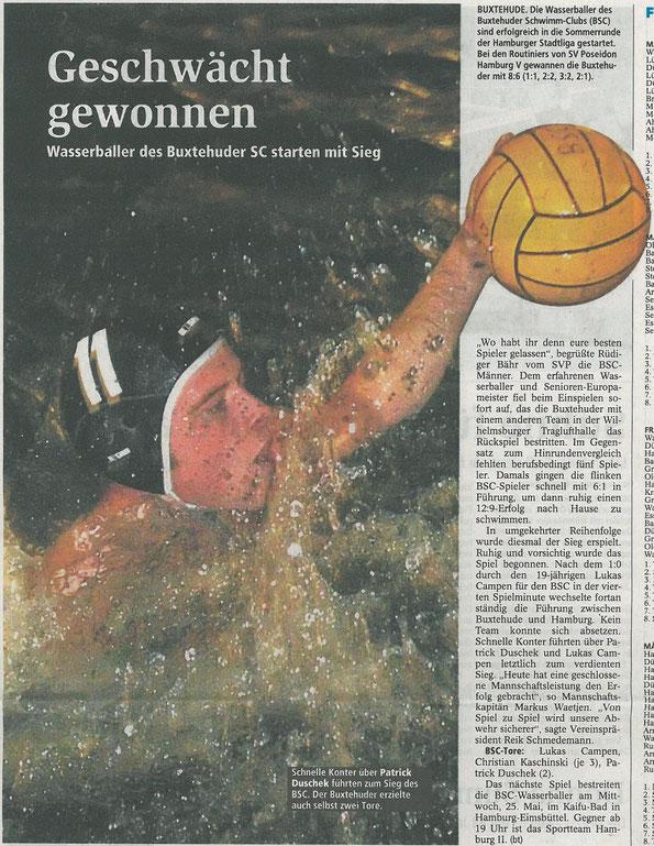 Buxtehuder Tageblatt vom 18.05.2012