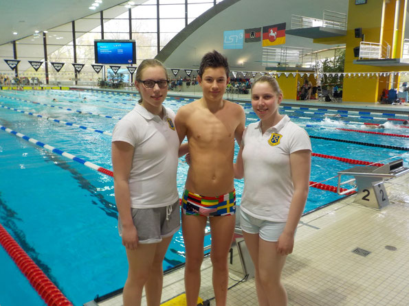 Unsere BSC-Teilnehmer in Hannover: Chantal Kasch, Frederik Pilarski und Isabelle Kasch