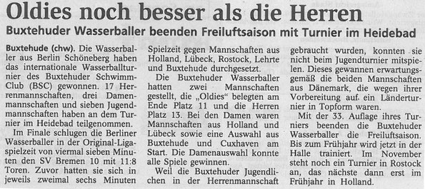 Buxtehuder Tageblatt im September 2004