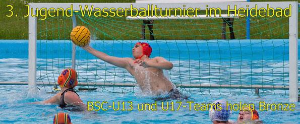 3. Jugend-Wasserballturnier im Buxtehuder Heidebad. U13 und U17-Teams des BSC holen beiden Bronze