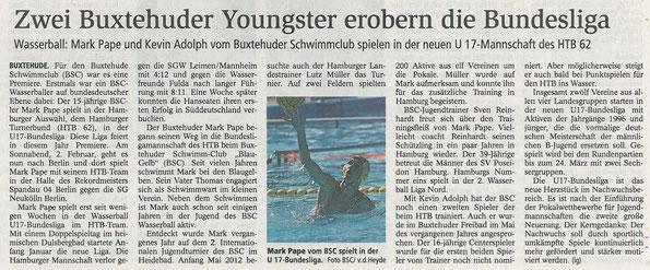 Buxtehuder Tageblatt vom 01.02.2013