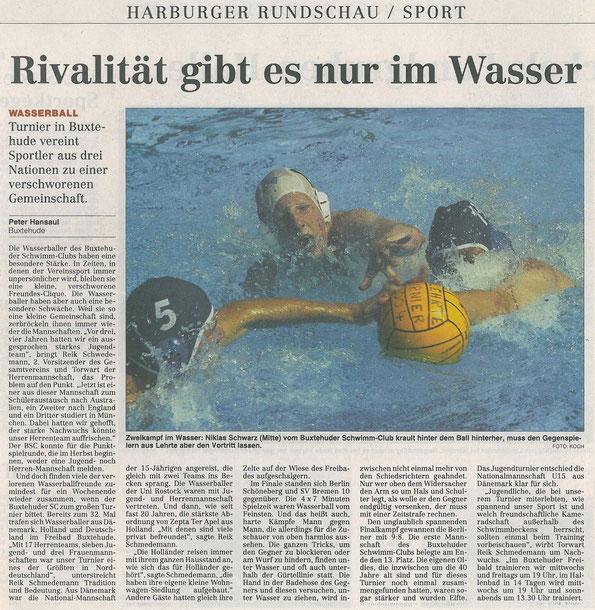 Hamburer Abendblatt, Harburger Rundschau vom 08.09.2004