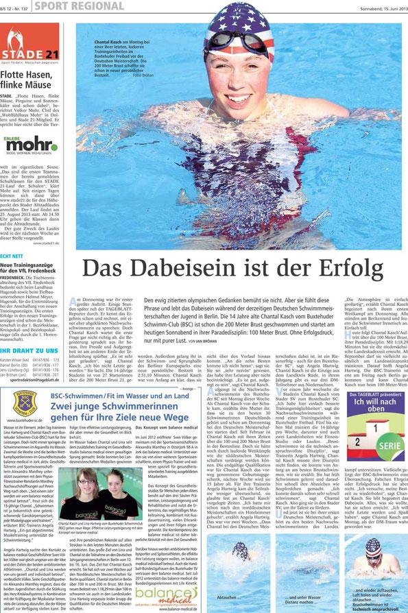 Neue Buxtehuder Tageblatt vom 15.06.2013