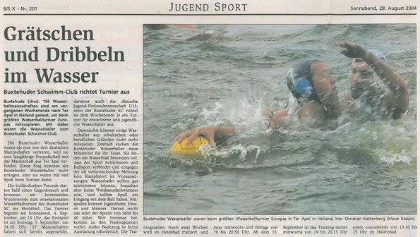 Buxtehuder Tageblatt vom 28.08.2004