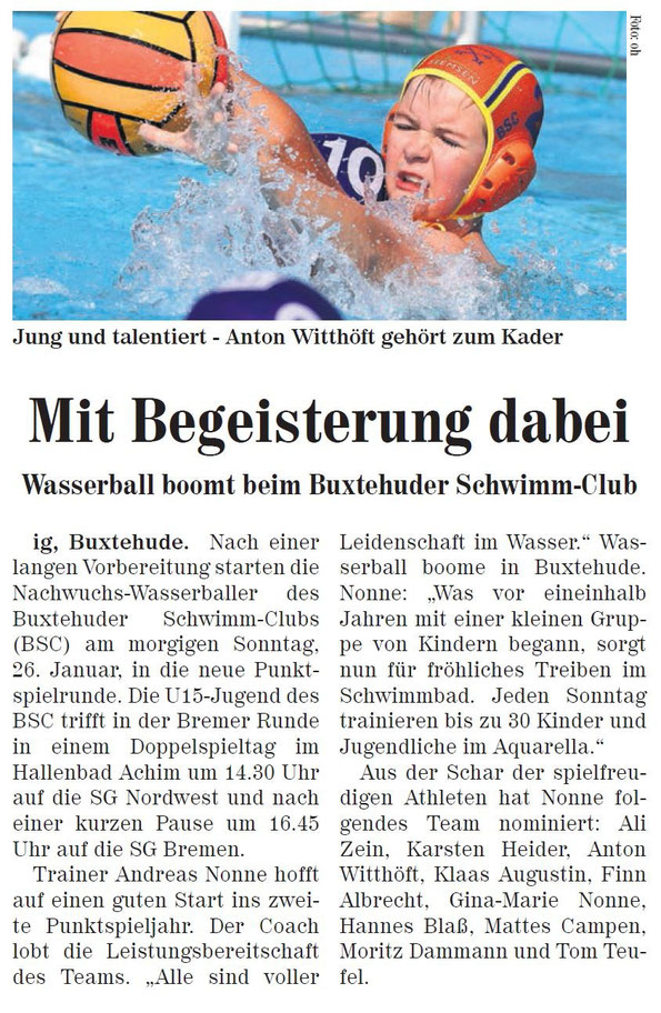 Wasserball: Jung und talentiert. Nils Dittmer gehört zum Kader