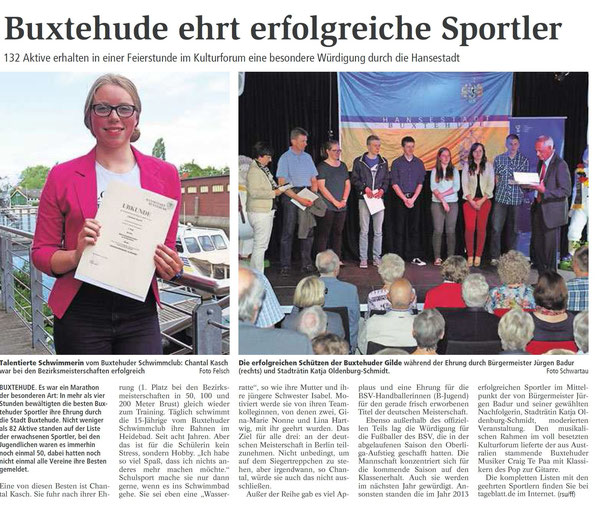 Buxtehuder Tageblatt vom 14.06.2014