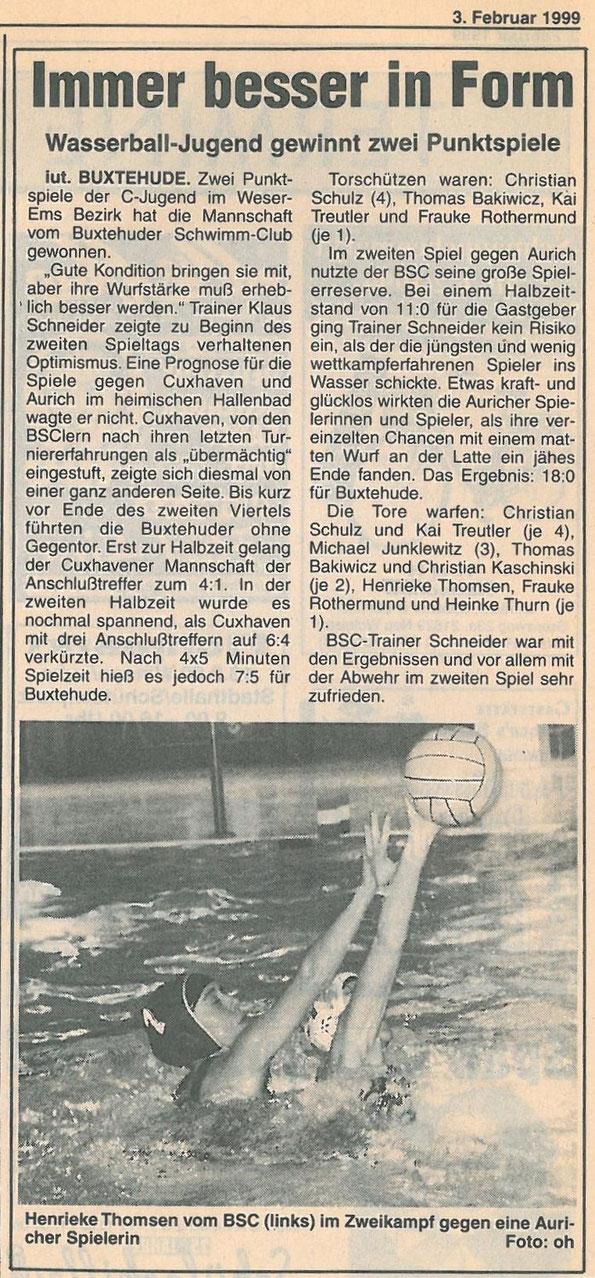 Neue Buxtehuder Wochenblatt vom 03.02.1999