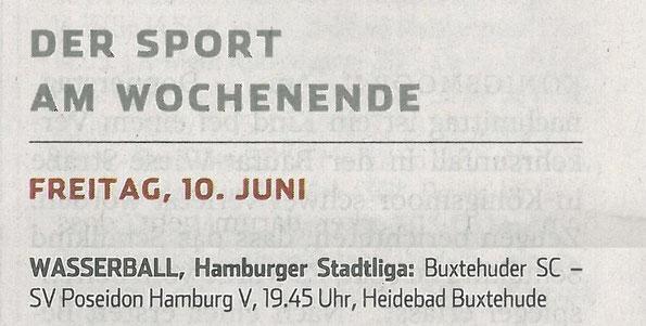 Hamburger Abendblatt vom 10. Juni 2016