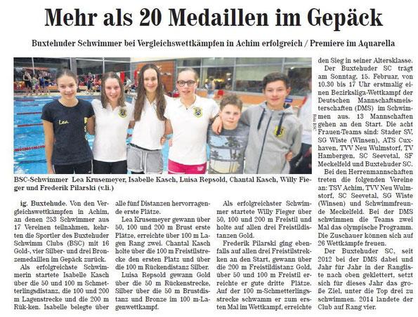 Neue Buxtehuder Wochenblatt vom 14.02.2015