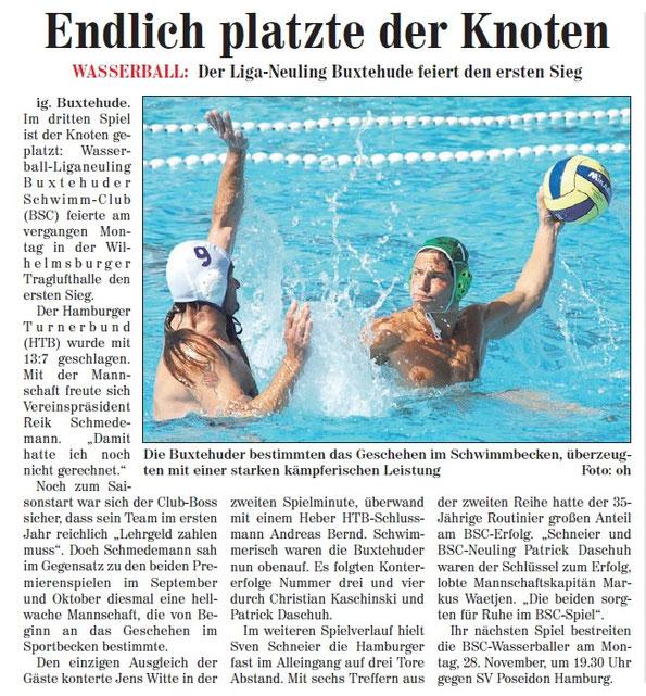 Neue Buxtehuder Wochenblatt vom 26.11.2011