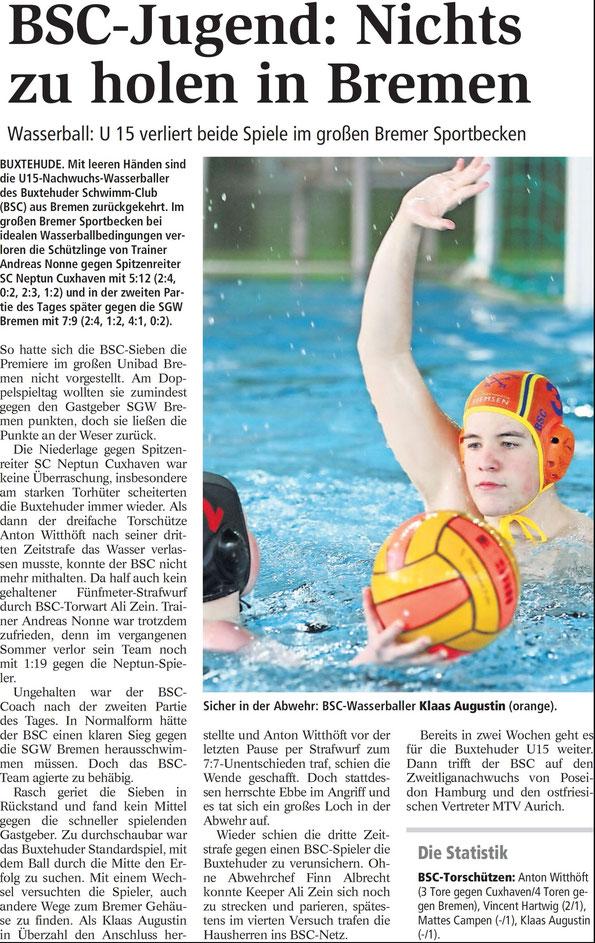 Buxtehuder Tageblatt vom 05.03.2014