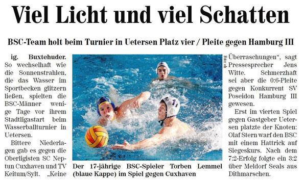 BSC-Team holt beim Turnier in Uetersen Platz vier. Neue Buxtehuder Wochenblatt vom 30.11.2013