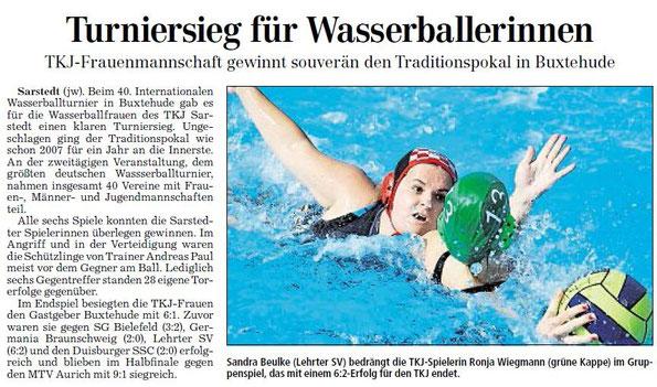 Hildesheimer Allgemeine Zeitung/Sarstedter Anzeiger vom 15.09.2011
