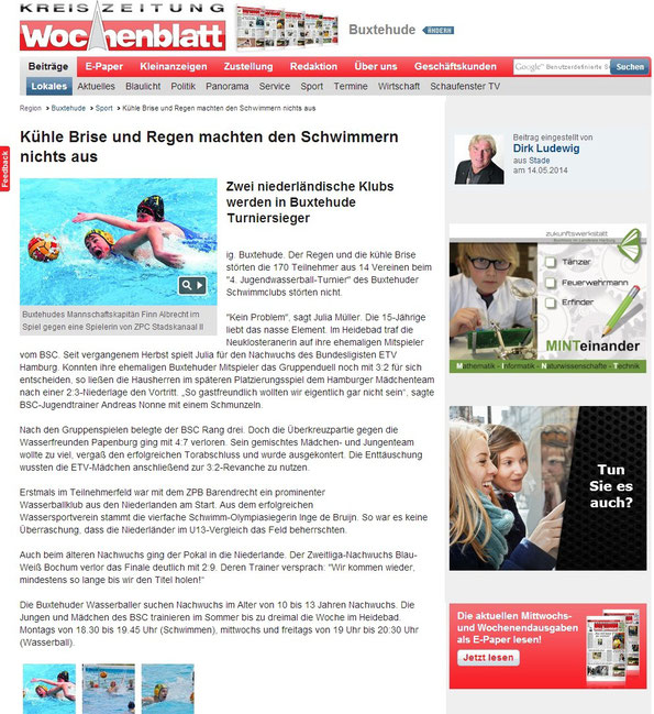 Buxtehuder Wochenblatt vom 14.05.2014 - Onlineausgabe