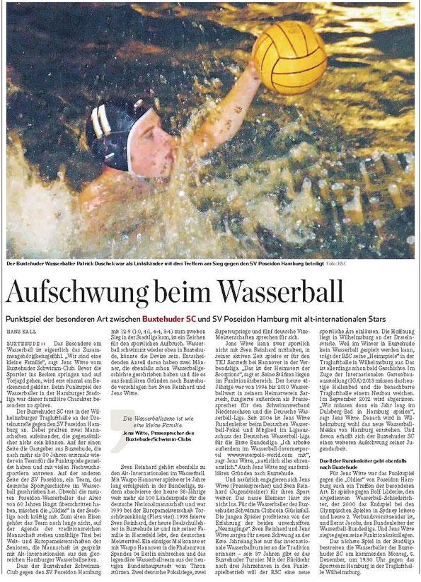 Hamburger Abendblatt - Sonderausgabe Stade/Buxtehude vom 3.12.2011