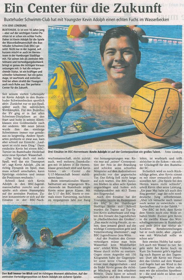 Buxtehuder Tageblatt vom 13.12.2012