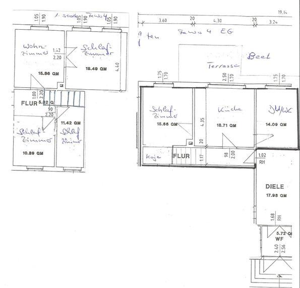 Grundriss von Wohnung 4