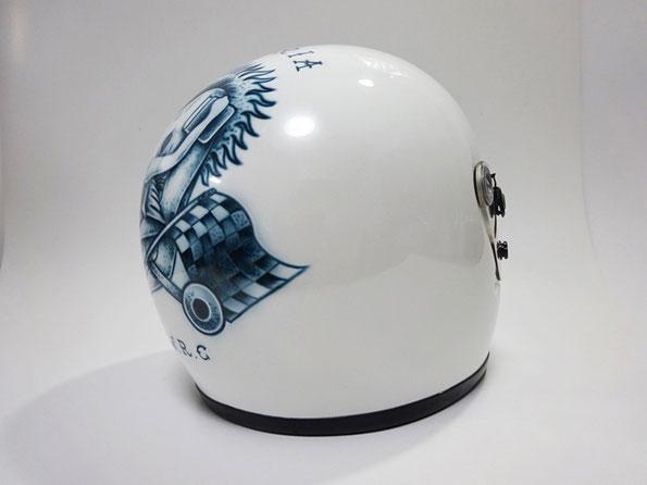 エアブラシ,ヘルメット