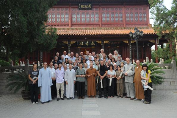 Zazenkai in Joshus Tempel (Bailin Tempel) mit Meister Ming Hai