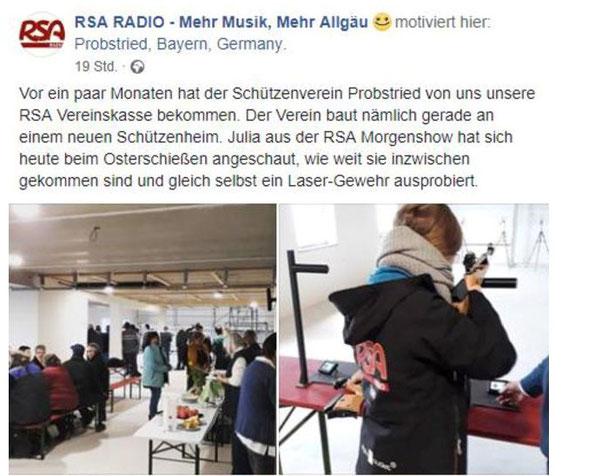 Quelle: RSA Radio / Schützenverein Probstried