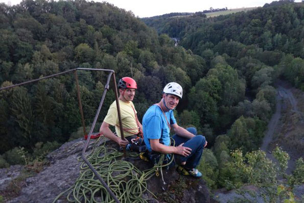 """""""grüne Hölle"""" Steinicht - Klettern am Nelkenstein, 19.08.2020"""